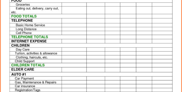 How To Make A Monthly Budget Spreadsheet Throughout Monthly Household Budget Spreadsheet  Resourcesaver