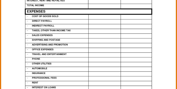How To Make A Profit And Loss Spreadsheet Regarding Simple Monthly Profit And Loss Statement Template Exceptional 12 How To Make A Profit And Loss Spreadsheet Spreadsheet Download