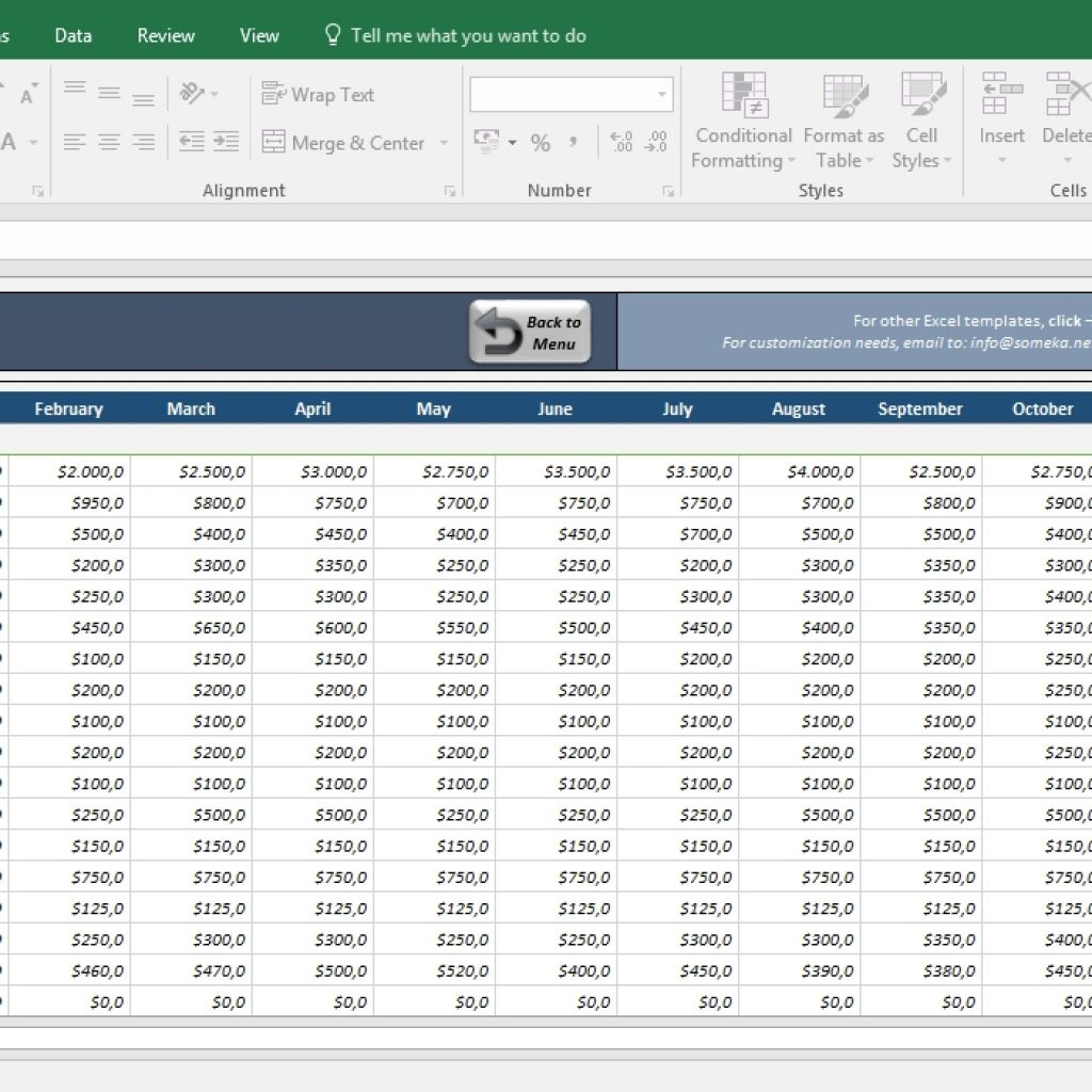 How To Make A Profit And Loss Spreadsheet With Profit And Loss Statement Template  Free Excel Spreadsheet In