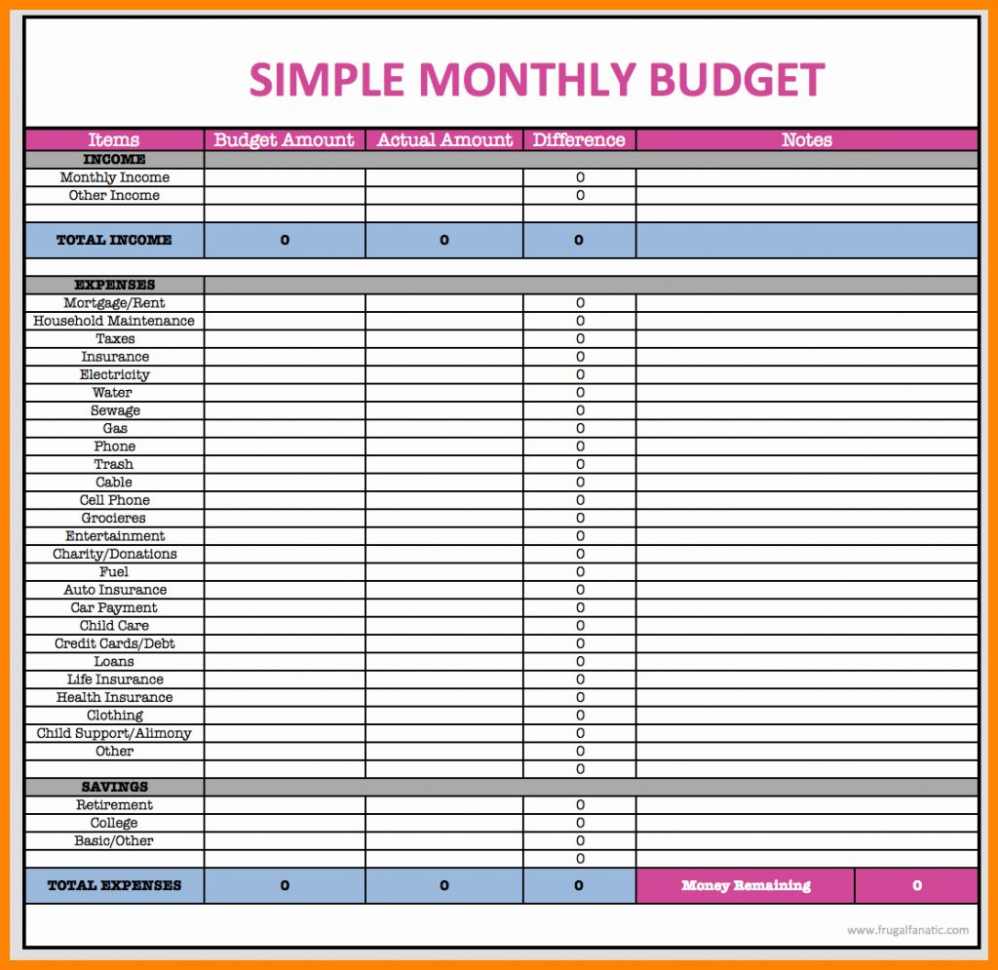 How To Make A Simple Spreadsheet In How To Make Simple Budget Spreadsheet Worksheet Program For