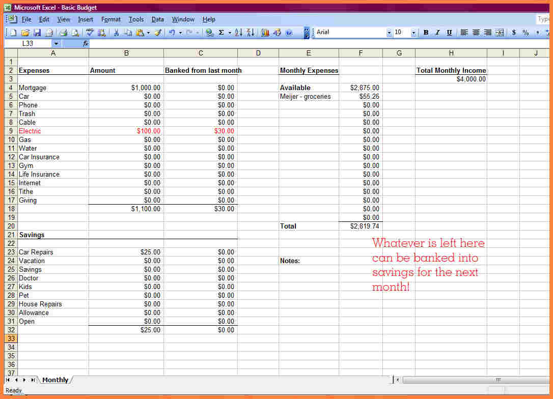 How To Make A Spending Spreadsheet For How To Make A Financial Spreadsheet  Resourcesaver