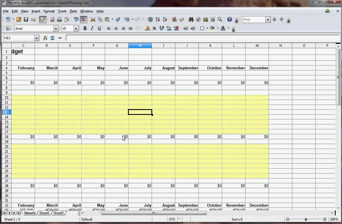 How To Make A Spreadsheet For Bills With How To Create A Monthly Budget Spreadsheet In Excel  Resourcesaver