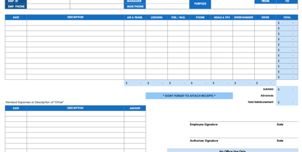 How To Make A Spreadsheet For Business Expenses Regarding Free Expense Report Templates Smartsheet