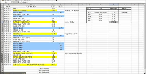 How To Make A Spreadsheet For Business Expenses With Regard To Spreadsheet Business Expenses Excel Spreadsheet Templates How To