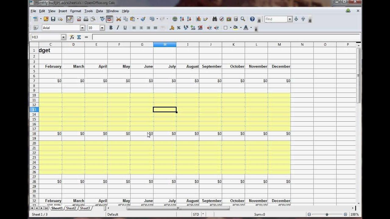 How To Make A Spreadsheet For Monthly Expenses With Regard To How To Make An Excel Spreadsheet For Monthly Expenses Budget