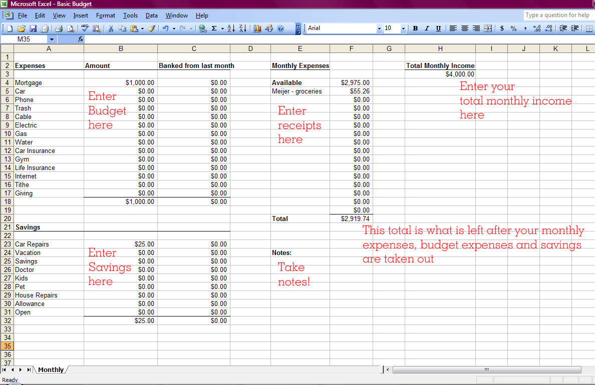 How To Make A Spreadsheet For Monthly Expenses Within How To Create An Excel Spreadsheet For Monthly Expenses Make