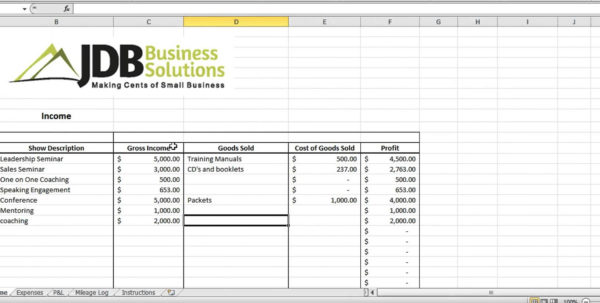 How To Make A Spreadsheet For Taxes For Accounting And Tax Spreadsheet For Entrepreneurs Youtube