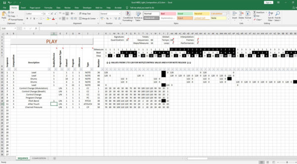 How To Make A Spreadsheet For Taxes Pertaining To Excel Midi: This Spreadsheet Sequencer Will Make Music From Your Tax
