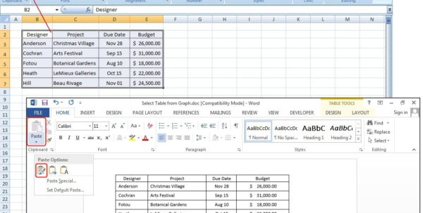 How To Make A Spreadsheet In Microsoft Word For How To Create Tables In Microsoft Word  Pcworld