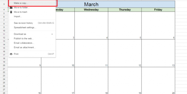 How To Make A Spreadsheet On Google Inside How To Create A Free Editorial Calendar Using Google Docs  Tutorial