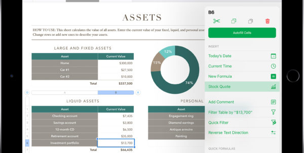How To Make A Spreadsheet On Ipad Within Add Current Stock Quotes And Currency Exchange Rates Into Your