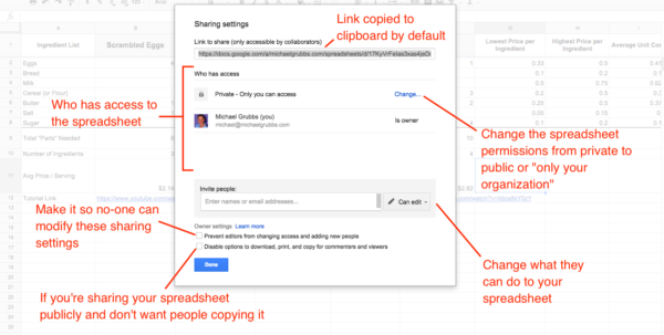 How To Make A Spreadsheet Shared Inside Google Sheets 101: The Beginner's Guide To Online Spreadsheets  The