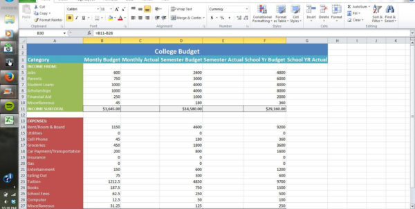 How To Make A Spreadsheet Using Excel Intended For How To Make A Budget Spreadsheet On Budget Spreadsheet Excel Excel