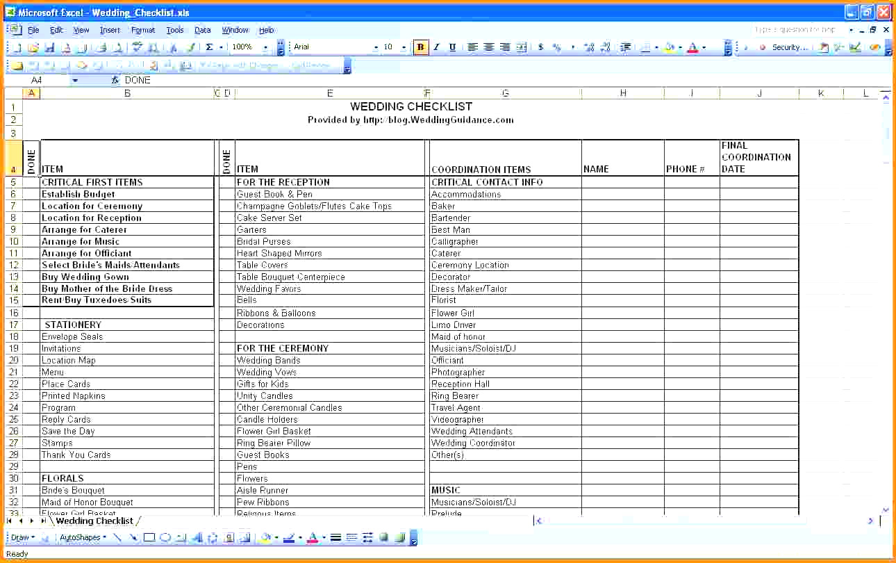 How To Make A Wedding List Spreadsheet Inside Best Wedding Guest List Spreadsheet Download 3  Discover China Townsf