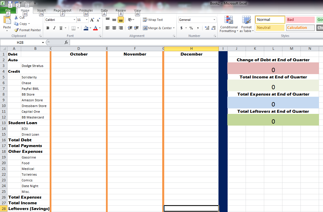 How To Make An Excel Spreadsheet For Expenses For Expense Sheet In Excel  Rainy Day Saving