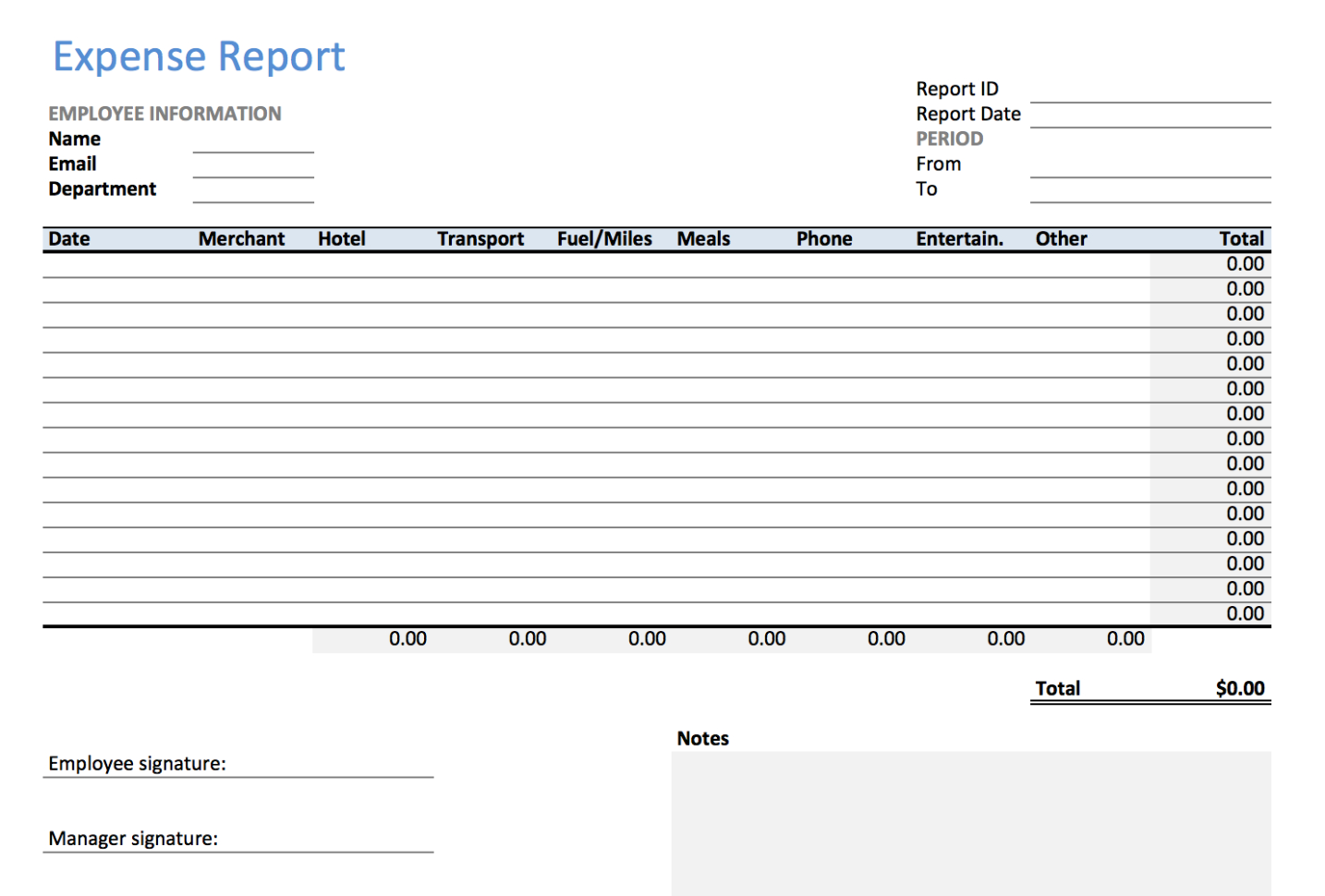 How To Make An Excel Spreadsheet For Expenses Throughout Excel Expense Report Template  Keepek