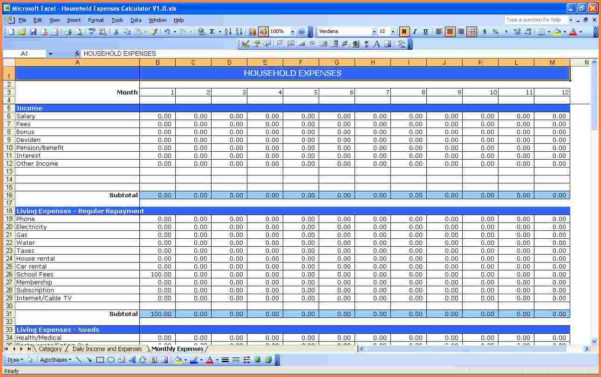 How To Make An Excel Spreadsheet For Monthly Expenses Throughout Monthly Bills Spreadsheet Template Excel Invoice Budget India Sheet