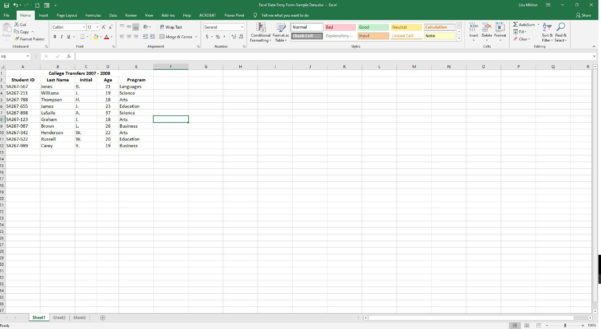 How To Make An Excel Spreadsheet Into A Fillable Form Inside Excel Data Entry Form Tutorial
