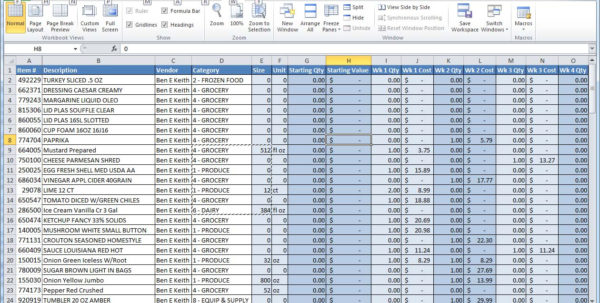How To Make An Inventory Spreadsheet On Excel For Sample Of Excel Sheets  Kasare.annafora.co