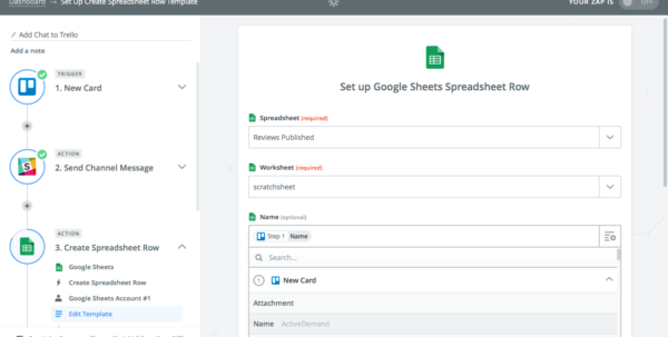 How To Make Google Spreadsheet Form In How To Automate Your Spreadsheets With Zapier
