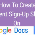 How To Make Google Spreadsheet Form In How To Create A Google Doc Form How To Make A Sign In Sheet In Word