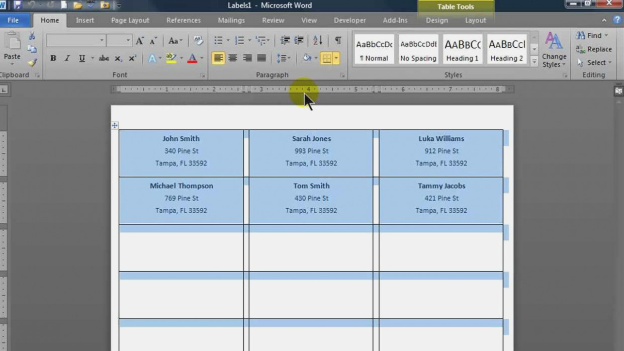 How To Make Mailing Labels From Excel Spreadsheet Regarding Create Mailing Labels In Word Using Mail Merge From An Excel Data
