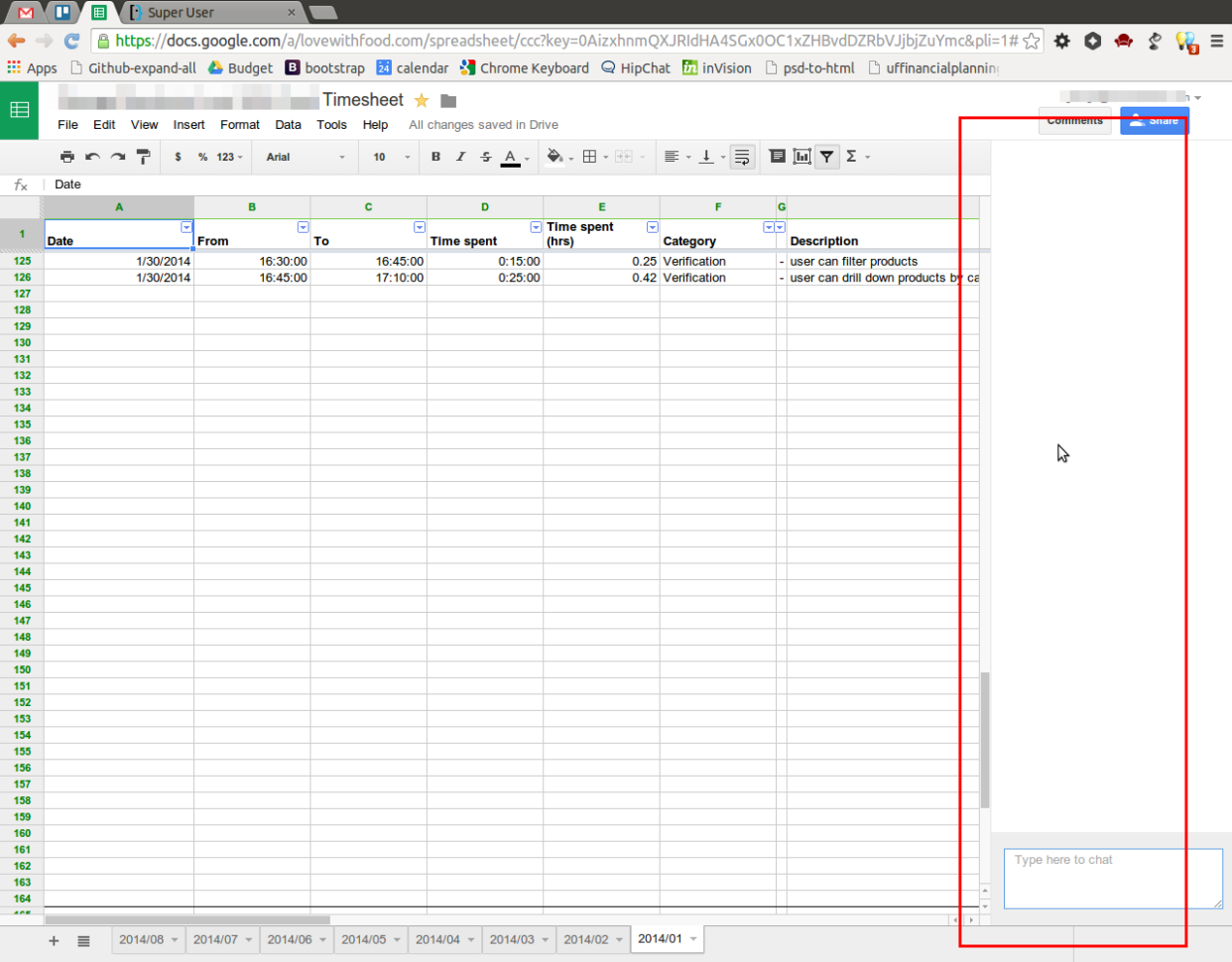 How To Open Google Spreadsheet Inside How I Hide The Chat Window In Google Drive Spreadsheet?  Super User