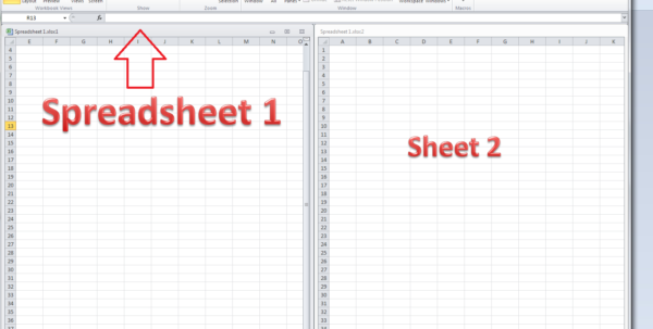 How To Open Spreadsheet Regarding How Do I View Two Sheets Of An Excel Workbook At The Same Time