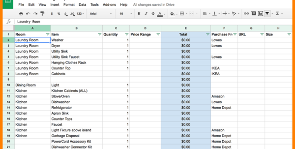 How To Organize A Budget Spreadsheet Intended For 6  Home Renovation Budget Spreadsheet Template  Credit Spreadsheet