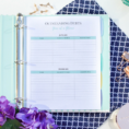 How To Organize Your Finances Spreadsheet Within Organize Your Finances With A Printable Budget Planner  The Simply