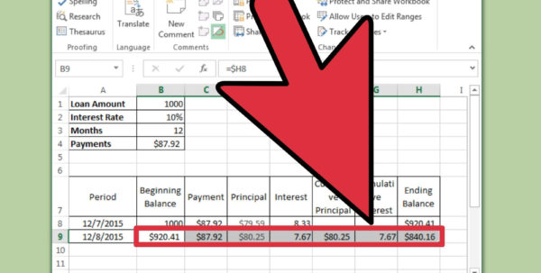 How To Prepare An Excel Spreadsheet Within How To Prepare Amortization Schedule In Excel: 10 Steps