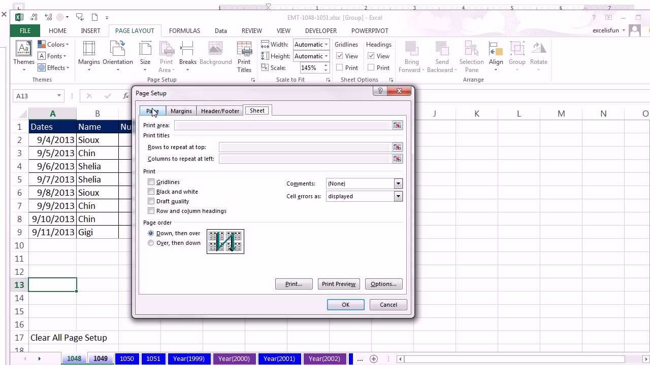 How To Print An Excel Spreadsheet On One Page Regarding Excel Creating An Spreadsheet With Formulas Settings File Setting Up