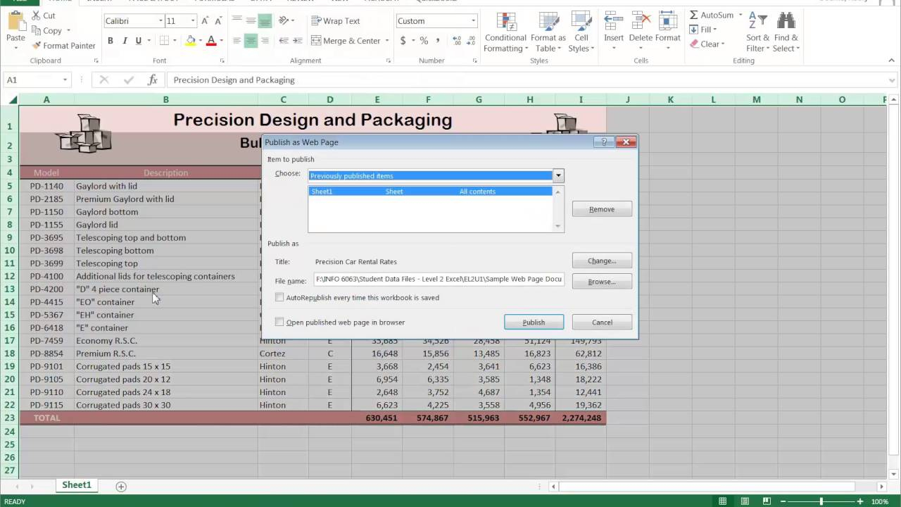 How To Publish An Excel Spreadsheet On The Web In How To Publish An Excel Spreadsheet On The Web Interactive