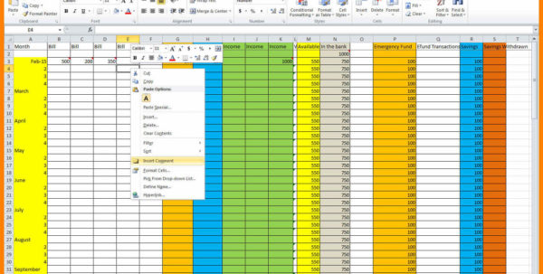 How To Set Up A Household Budget Spreadsheet Pertaining To 5  Spreadsheet Setting Up A Household Budget  Credit Spreadsheet