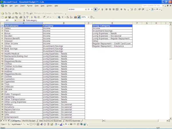 How To Set Up A Household Budget Spreadsheet With Regard To Free Family Budget Worksheet  Resourcesaver