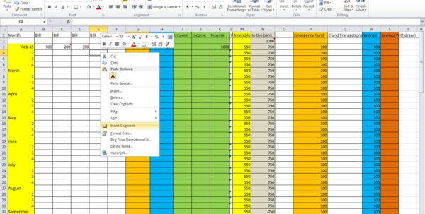 How To Set Up A Monthly Expense Spreadsheet For How To Set Up A Monthly Budget Spreadsheet Free  Homebiz4U2Profit