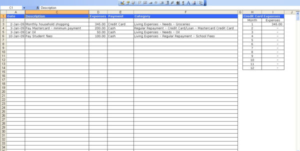 How To Set Up A Monthly Expense Spreadsheet Regarding Monthly Expense Sheet Excel Template  Resourcesaver