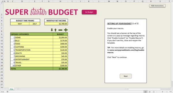 How To Set Up A Spreadsheet For Household Budget With 10 Free Budget Spreadsheets For Excel  Savvy Spreadsheets