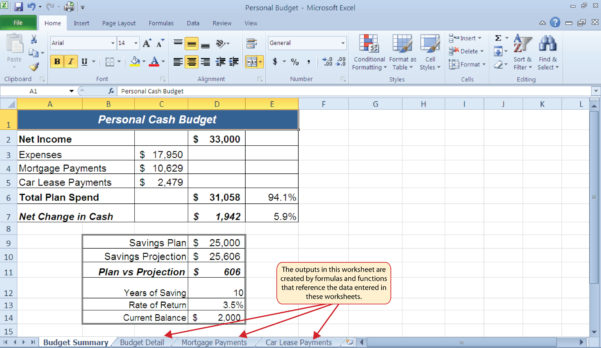 How To Set Up An Excel Spreadsheet For A Budget Throughout Budget Formula Excel  Kasare.annafora.co