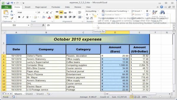 How To Set Up An Excel Spreadsheet For Accounts Pertaining To Rental Property Excel Spreadsheet  Awal Mula