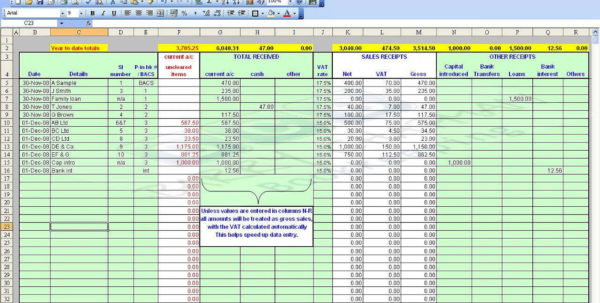 How To Set Up An Excel Spreadsheet For Accounts With 017 Excel Spreadsheet Templates Free Accounting Small Business And