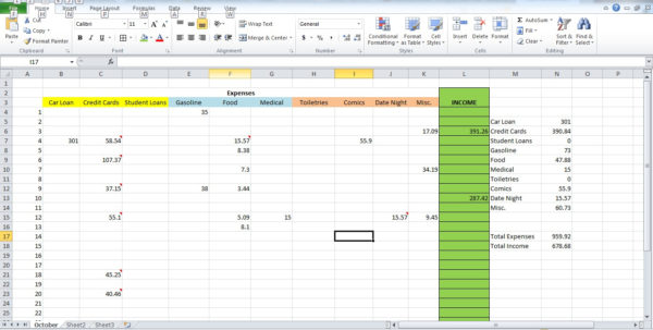 How To Set Up Excel Spreadsheet For Expenses In How To Set Up A Financial Spreadsheet On Excel On Excel Spreadsheet