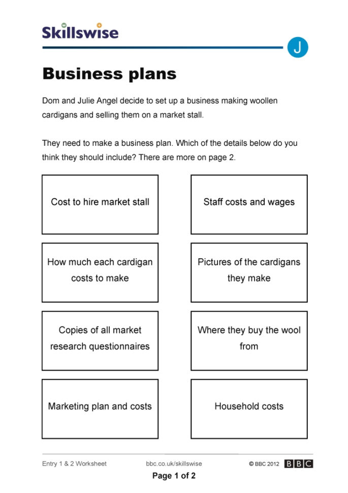 How To Set Up Spreadsheet For Business In Business Plans