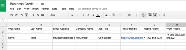 How To Set Up Spreadsheet For Business Throughout How To Scan Business Cards Into A Spreadsheet