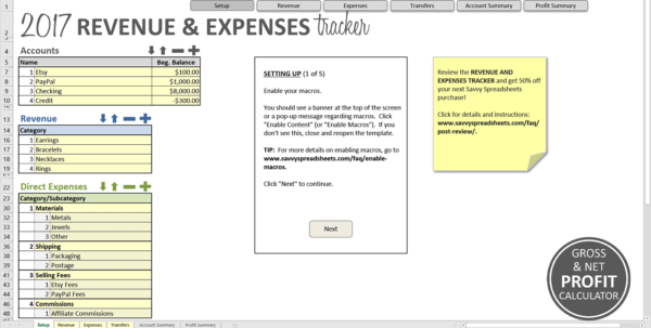 How To Set Up Spreadsheet For Expenses Regarding Revenue And Expenses Tracker  Savvy Spreadsheets How To Set Up Spreadsheet For Expenses Google Spreadsheet