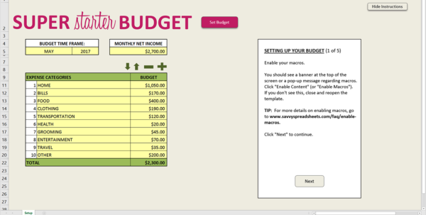 How To Setup A Personal Budget Spreadsheet Regarding 10 Free Budget Spreadsheets For Excel  Savvy Spreadsheets