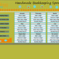 How To Setup A Spreadsheet For Bookkeeping Throughout Handmade Bookkeeping Spreadsheet 2.0 : Number One Selling