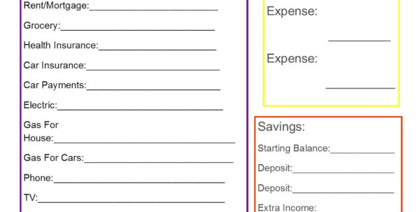 How To Setup A Spreadsheet For Household Budget Intended For Simple Monthly Budget Template  Texas Vet