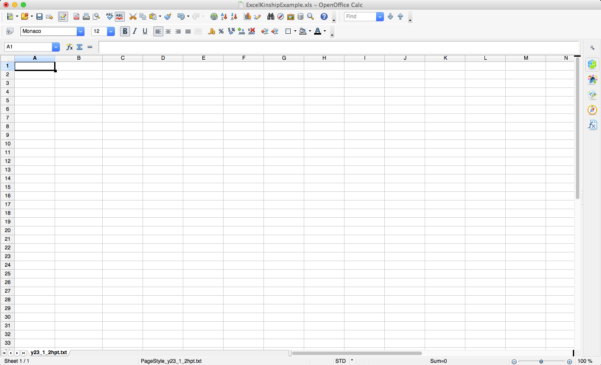 How To Setup A Spreadsheet Within Yhrd : How To Set Up An Excel, Openoffice Or Csvspreadsheet For