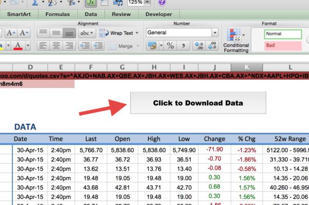 How To Share An Excel Spreadsheet Between Multiple Users Regarding How To Import Share Price Data Into Excel  Market Index